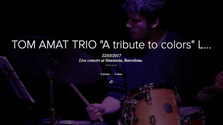 Tom Amat Trio live @SINESTESIA