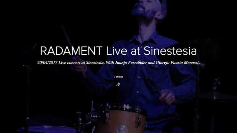 RADAMENT live @ SINESTESIA