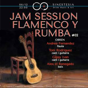 Jam Session de Flamenco y Rumba @SINESTESIA, Barcelona, Sants